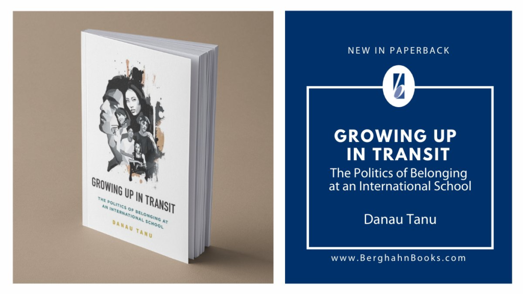 Racism in international education. Growing Up in Transit - in paperback poster