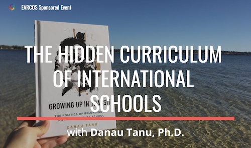 EARCOS Sponsored Event: The Hidden Curriculum of International Schools with Danau Tanu. Photo of Growing Up in Transit - book.